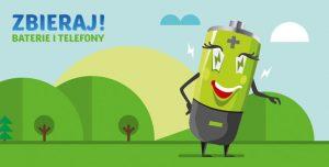 Logo akcji zbieraj baterie i telefony